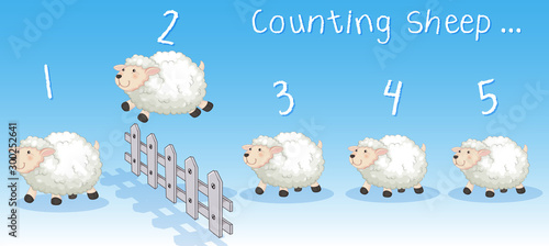 Spoed Foto op Canvas Kids Sheeps jumping over the fence