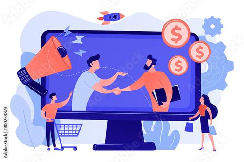Profitable partnership, business partners cowork Wallpaper Mural