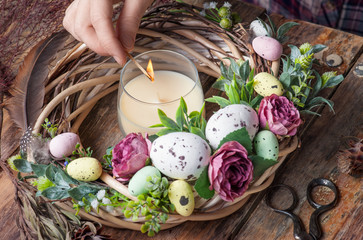 Making of Easter DIY wreath
