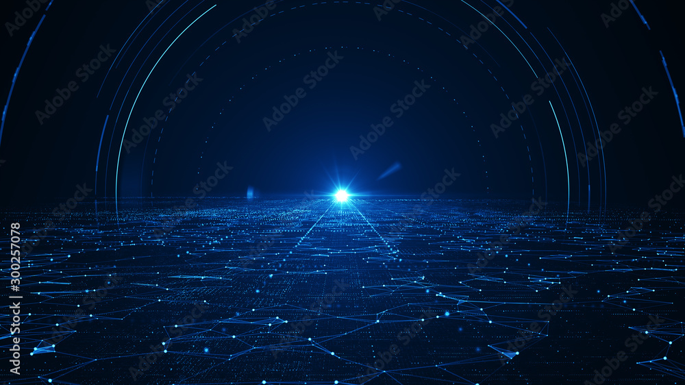 Fototapeta  Abstract technology  big data background concept.