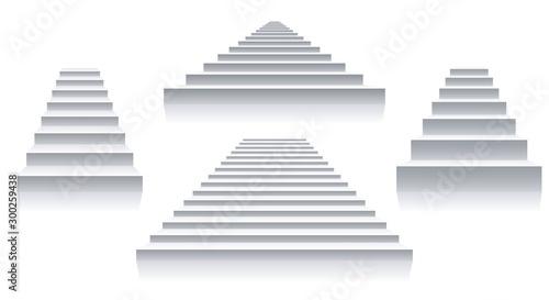 Fotografija Interior white stairs