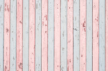 Pale Blue And Pink Wood Planks...
