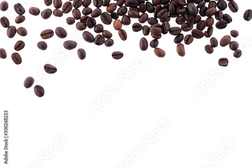 Tuinposter koffiebar Coffee beans isolated on a white background