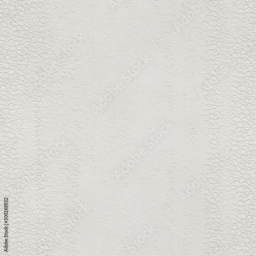 Fotografering  White paper seamless texture, embossed pattern on paper background, 3d illustrat