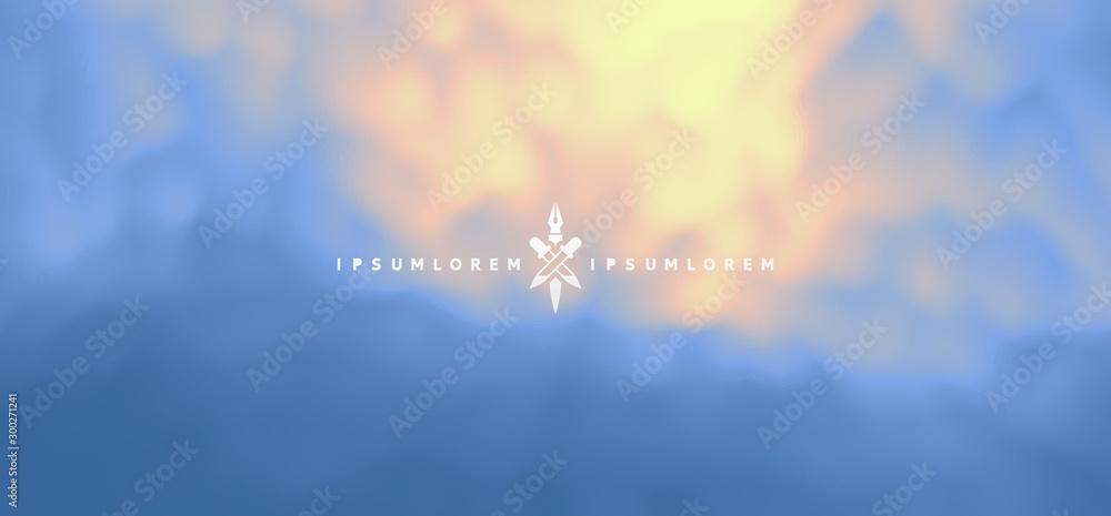 Fototapety, obrazy: Blue misty background. Vector Illustration for advertising, marketing, presentation. Mobile screen.