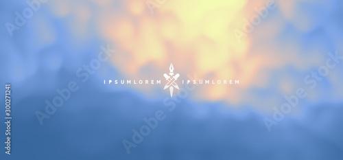 Blue misty background. Vector Illustration for advertising, marketing, presentation. Mobile screen.