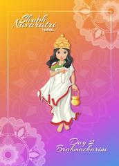 Navarati poster with goddess