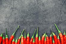 Hot Red Pepper. Chilean Pepper...