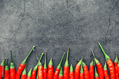 Foto op Aluminium Hot chili peppers Hot red pepper. Chilean pepper on a black.