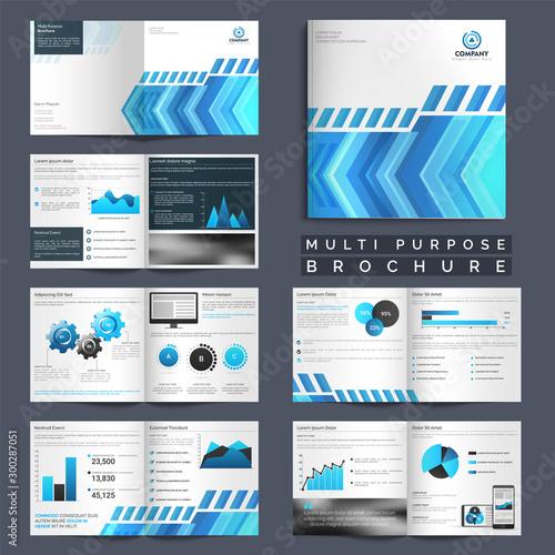 Vászonkép  Multi Purpose Business Brochure set.