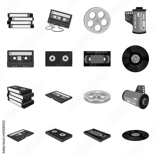 Vector design of device and player icon Fototapete