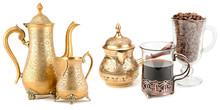 Set Of Kitchen Utensils Golden...