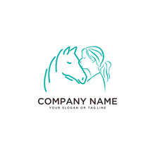 Logo Design Horse Care, Horse Training Vector Template