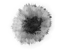Black Ink Textures On White Background.