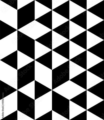 Geometric Triangle Seamless Pattern - 300293696