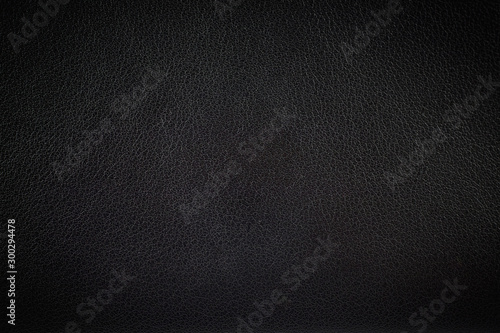 Closeup surface black leather texture background Wallpaper Mural