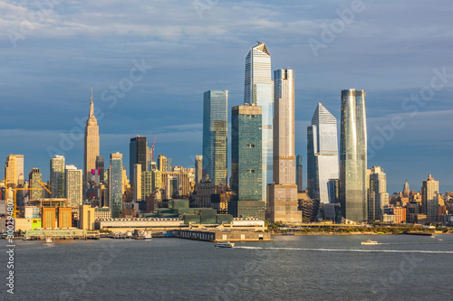 Papel de parede Panoramic view to West Side of Manhattan Skyline from Hamilton Park, Weehawken, across Hudson River