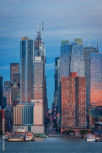 Carta da parati Panoramic view to West Side of Manhattan Skyline from Hamilton Park, Weehawken, across Hudson River