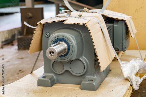 new electric engine in stock in the industry for machine tools. Canvas Print