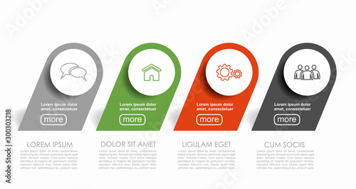 Foto auf AluDibond Logo Infographic design template with place for your data. Vector illustration.