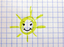 Children's Drawing Of The Sun ...