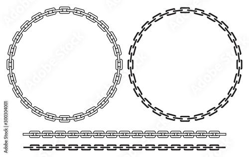 Chain frame (round) vector illustration Wallpaper Mural