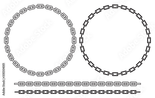 Photo Chain frame (round) vector illustration