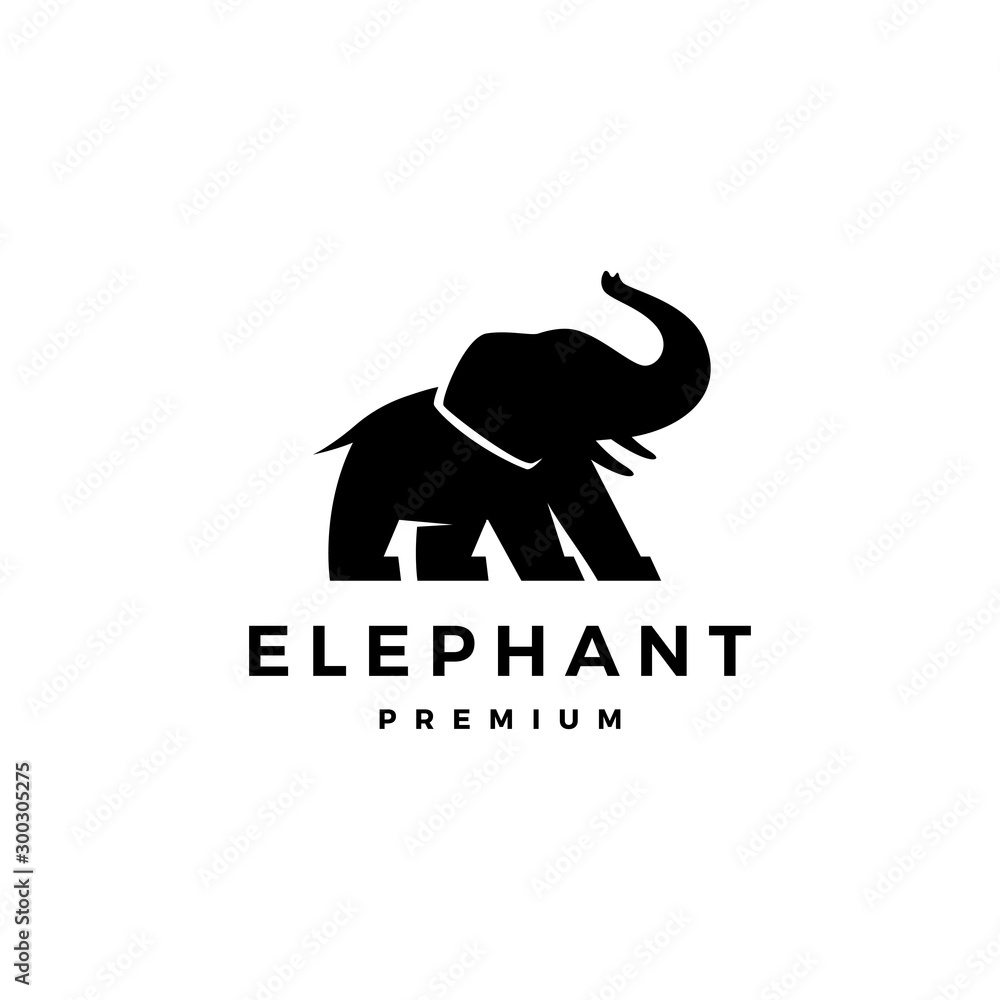 Obraz elephant logo vector icon illustration fototapeta, plakat
