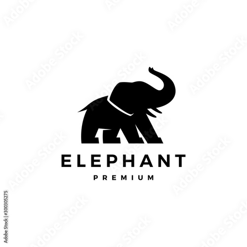 elephant logo vector icon illustration Wallpaper Mural