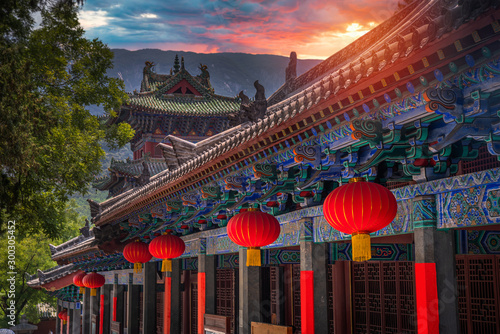 Shaolin is a Buddhist monastery in central China. Canvas Print