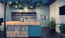 Interior Of Modern Kitchen Wit...