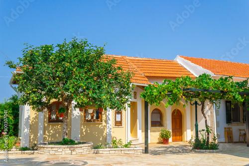 Fényképezés Monastery courtyard in Greece, Corfu.