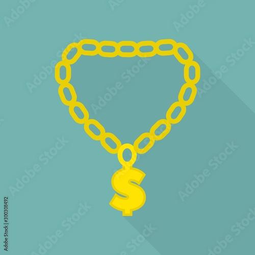 Fotografering  Rapper gold chain icon