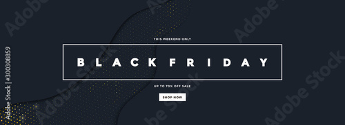 Obraz na plátne Black Friday Sale Banner 6