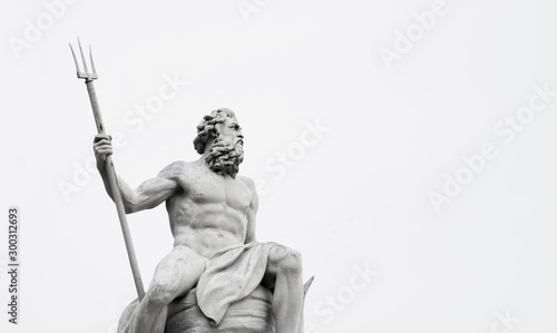 Powerfull mighty god of the sea and oceans Neptune (Poseidon) The ancient statue Fototapete