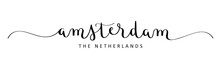 AMSTERDAM Black Vector Brush C...