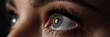 Leinwandbild Motiv Amazing female green and grey coloured eye
