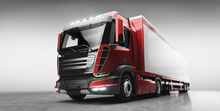 Truck With Cargo Trailer. Tran...