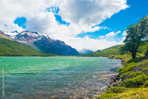Laguna Nieta lake in Los Glaciares National park in Argentina