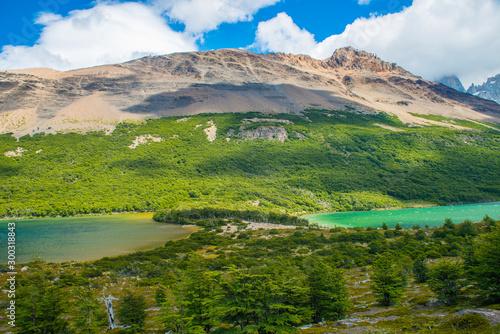 Lagunas Madre e hija and Nieta lake in Los Glaciares National park in Argentina