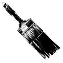Monochrome Paintbrush With Pai...