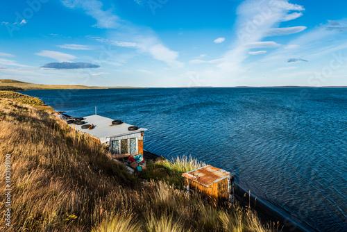 Fisherman's cottage near the coast in Tierra del Fuego