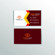 Creative and professional business card design. vector illustration
