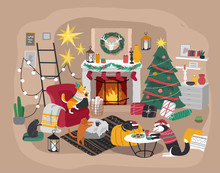 Christmas Home Decorations Wit...