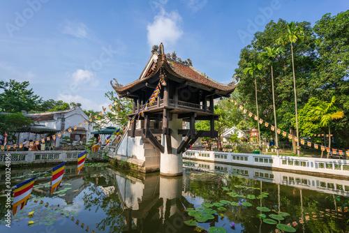 Valokuva One Pillar pagoda, often used as a symbol for Hanoi, in Hanoi, Vietnam