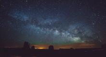 Monument Valley At Night , Ari...