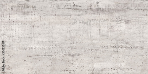 Old wood texture. Vintage parquet floor surface, grey wood texture background - 300332817