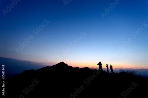 Foto auf Leinwand Schwarz Khao Chang Phuak Mountain - Kanchanaburi