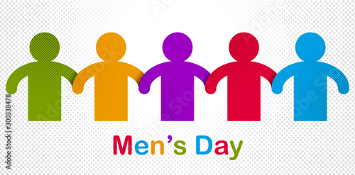 Obraz na plátně  Man day international holiday, gentleman club, male solidarity concept vector illustration icon or greeting card