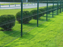 Neat Fence And Shrubs Near The...